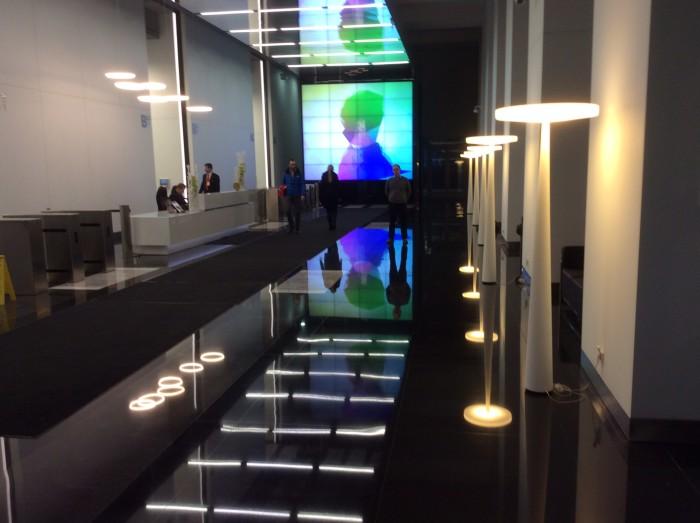 Widok lobby budynku WFC