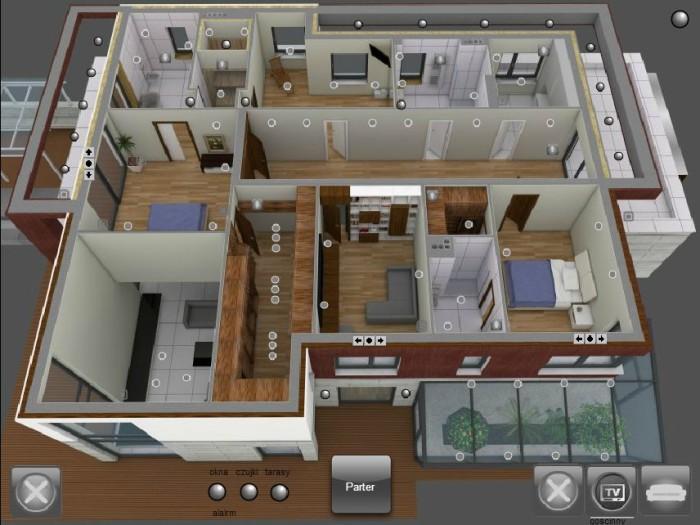 Widok wizualizacji piętra – Strzykuły