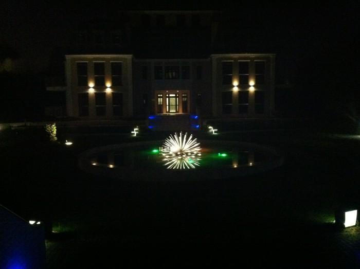 Oświetlenie atrium osiedla