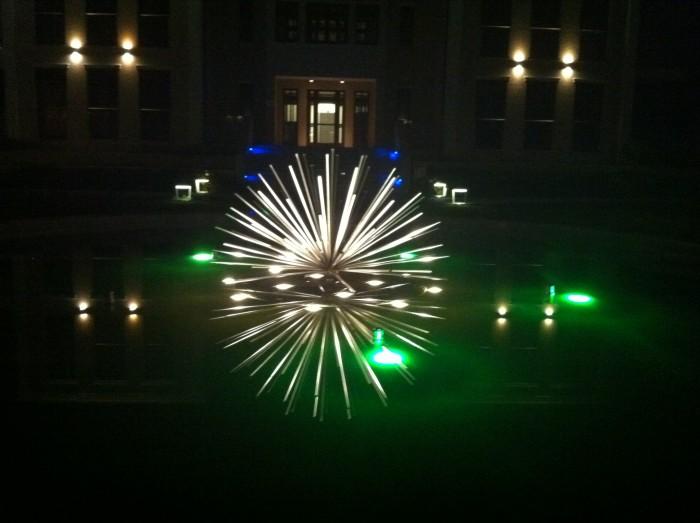 Sterowanie oświetleniem i fontanną osiedla