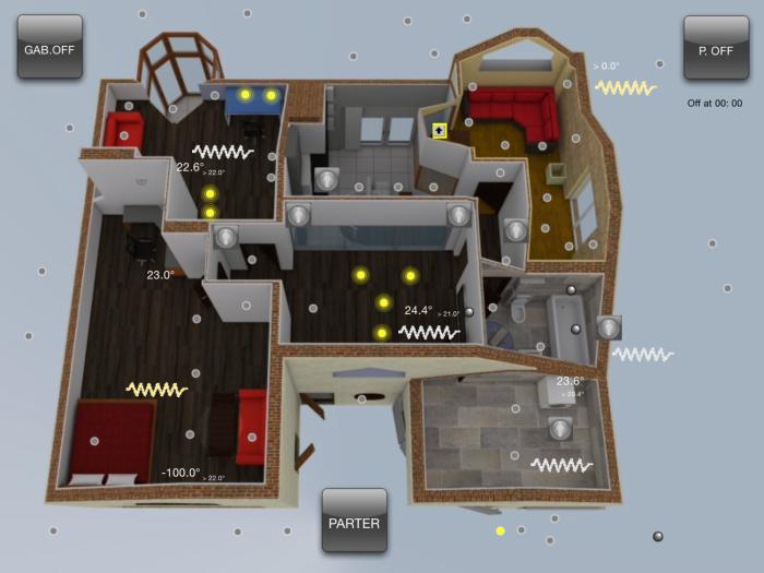 Widok ekranu iPad – Retmańska piętro